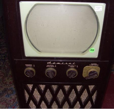 vintage television set